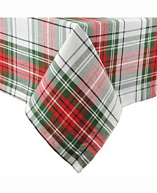 "Christmas Plaid Tablecloth 60"" x 84"""