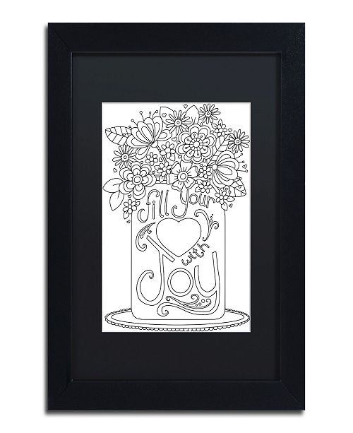 "Trademark Global Jennifer Nilsson Fill Your Heart with Joy Matted Framed Art - 14"" x 19"" x 2"""