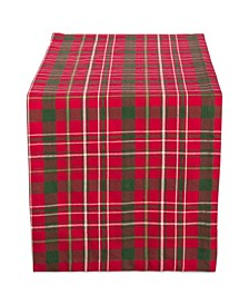 Tartan Holly Plaid Table Runner