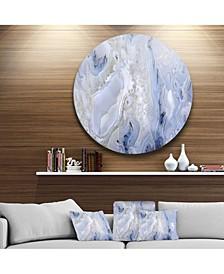 "Designart 'Agate Stone Background' Disc Abstract Metal Circle Wall Art Print - 23"" x 23"""