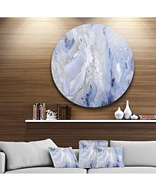 "Designart 'Agate Stone Background' Disc Abstract Metal Circle Wall Art Print - 23"" x 23"""