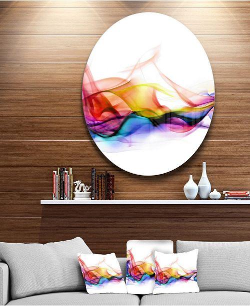 "Design Art Designart 'Abstract Smoke' Disc Contemporary Artwork On Circle Metal Wall Art - 23"" x 23"""