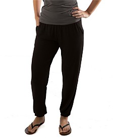 YALA Geena Lightweight Fold-over Waist Viscose from Bamboo Jogger Lounge Pant