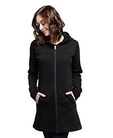 YALA Jemma Zip-up Long Sleeve Organic Cotton and Viscose from Bamboo Hooded Sweatshirt