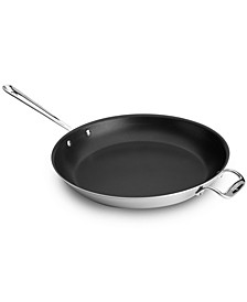 "Stainless Steel Nonstick 14"" Fry Pan"