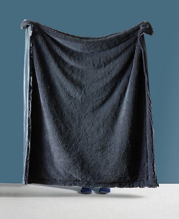 De Moocci Shaggy Chic Fuzzy Faux Fur Throw Blanket - 50 x 60