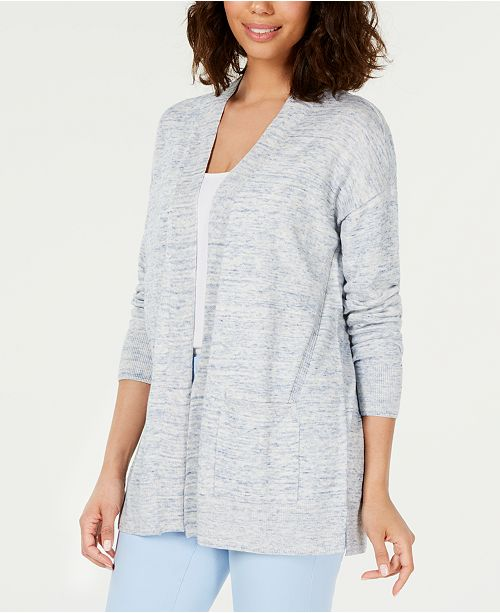 Charter Club Cotton Chambray Open-Front Cardigan, Created for Macy's