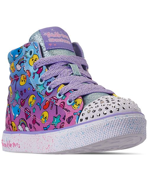 Skechers Little Girls' Twinkle Toes: Twinkle Breeze 2.0 - Sparkles & Smiles High-Top Casual Sneakers from Finish Line