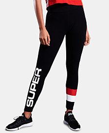 Superdry Sport Stripe-Panel Logo Leggings