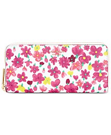 kate spade new york Sylvia Floral Continental Zip Around Wallet