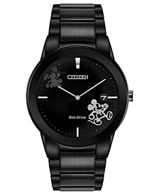Eco-Drive Men's Mickey Mouse Black Bracelet Watch 40mm