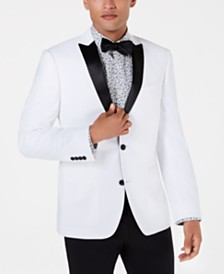 Bar III White Slim-Fit Dinner Jacket