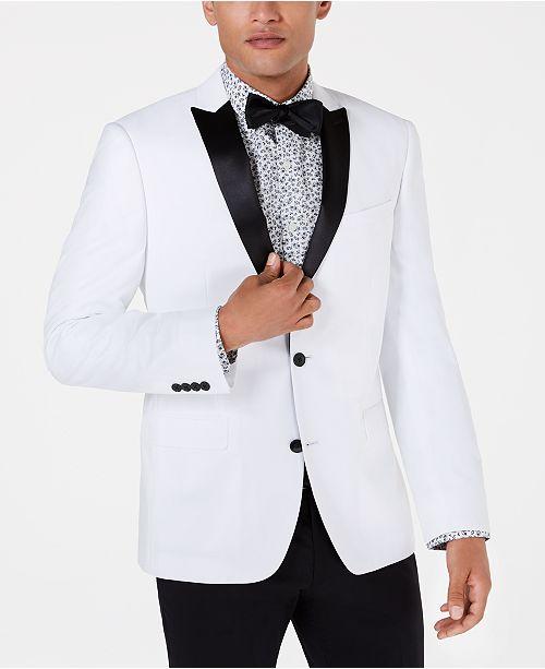 Bar III White Slim-Fit Dinner Jacket