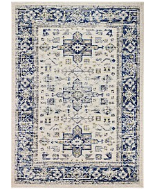 """BB Rugs Cassius CSS-501 Ivory/Blue 7'6"""" x 9'6"""" Area Rug"""