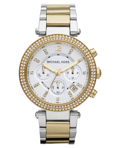 http://www1.macys.com/shop/product/michael-kors-womens-chronograph-parker-two-tone-stainless-steel-bracelet-watch-39mm-mk5626?ID=685529&CategoryID=23930&LinkType=&selectedSize=#fn=PRODUCT_DEPARTMENT%3DWatches%26sp%3D3%26spc%3D178%26ruleId%3D60|BS%26slotId%3D175%26kws%3Dmichael%20kors%26searchType%3Dac%26ackws%3Dmic