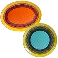 Sedona Melamine 2-Pc. Platter Set
