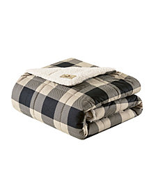 "Woolrich Linden 50"" x 70"" Oversized Sofstpun Down Alternative Throw"