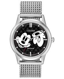 Disney by Citizen Eco-Drive Unisex Mickey Mouse Bracelet Watch 40mm