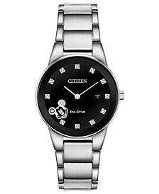 Disney by Citizen Eco-Drive Women's Mickey Mouse Diamond-Accent Bracelet Watch 29.5mm