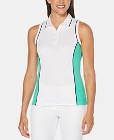 Hourglass Colorblocked Sleeveless Golf Polo