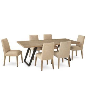 Clarita Dining Furniture, 7-Pc. Set (Table & 6 Side Chairs), Created for Macy's