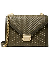 55123d2c43ed MICHAEL Michael Kors Whitney Quilted Studded Shoulder Bag
