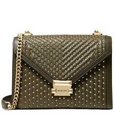 MICHAEL Michael Kors Whitney Quilted Studded Shoulder Bag