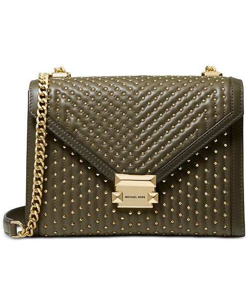 e4788e0faf41 Michael Kors Whitney Quilted Studded Shoulder Bag   Reviews ...