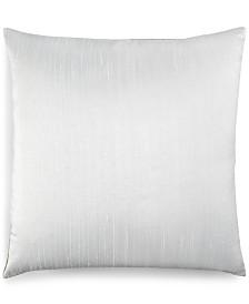 """Small World Home Jetrich Canada Dupioni White 20"""" x 20"""" Decorative Pillow"""