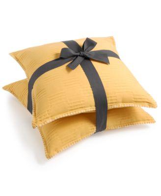 """2-Pk. Peoria Yellow 20"""" x 20"""" Decorative Pillows"""