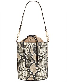 I.N.C. Averry Snake Drawstring Bucket Bag, Created for Macy's