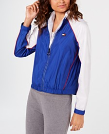 Tommy Hilfiger Sport Colorblocked Logo Windbreaker