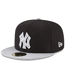 New Era New York Yankees Black Heather 59FIFTY Fitted Cap