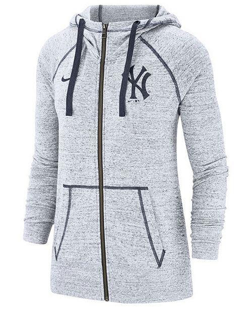 buy popular bc163 b791a Women's New York Yankees Gym Vintage Full-Zip Hooded Sweatshirt