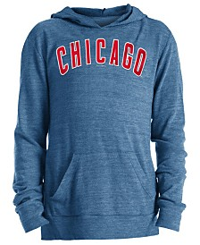 5th & Ocean Big Girls Chicago Cubs Tri-Blend Pullover Hoodie