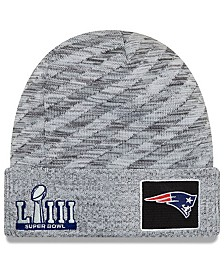 New Era New England Patriots Super Bowl LIII Game Sideline Knit Hat