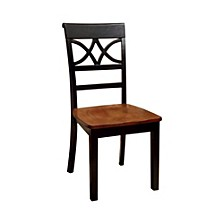 Cottage Side Chair with Wooden Seat - Set Of 2