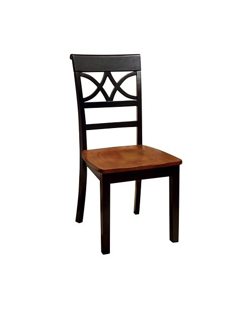 Benzara Cottage Side Chair with Wooden Seat - Set Of 2