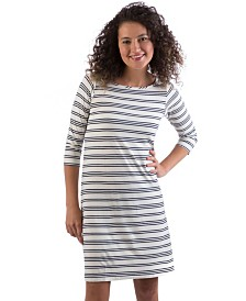 YALA Rita Boat Neck Viscose from Bamboo A-line Dress