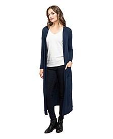 YALA Brooke Duster Style Viscose from Bamboo Lightweight Long Knit Cardigan