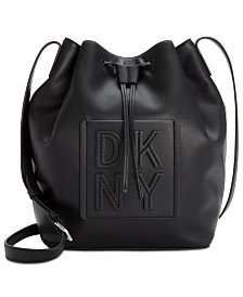 DKNY Tilly Stack Drawstring Bucket, Created for Macy's