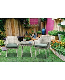 Tashay 3-Piece Patio Bistro Set