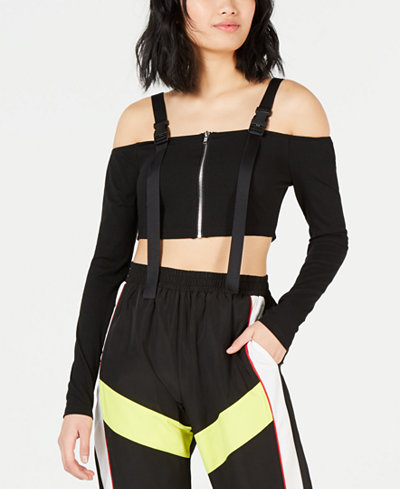 Waisted Buckle Crop Top