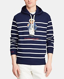 Polo Ralph Lauren Men's Captain Bear Mesh Hooded T-Shirt, Created for Macy's
