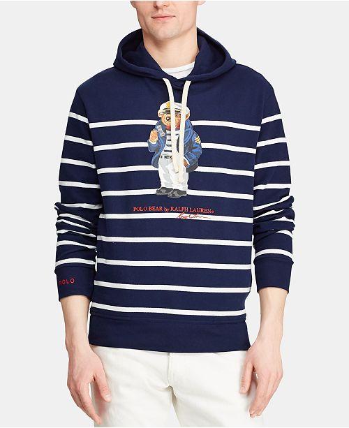 34e1c5f5 Polo Ralph Lauren Men's Captain Bear Mesh Hooded T-Shirt, Created ...