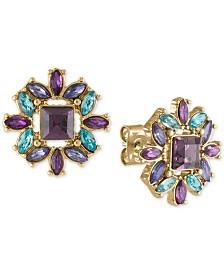 RACHEL Rachel Roy Gold-Tone Multicolor Flower Stud Earrings