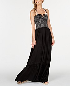 Stitch-Detail Maxi Cover-Up Dress