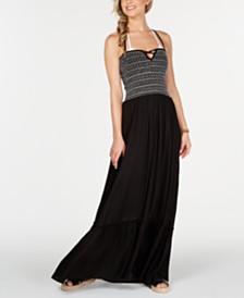Raviya Stitch-Detail Maxi Cover-Up Dress
