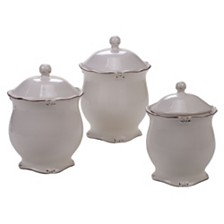 Certified International Vintage Cream 3-Pc. Canister Set