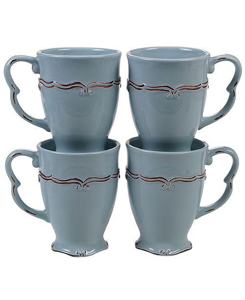 Certified International Vintage Blue 4-Pc. Mug